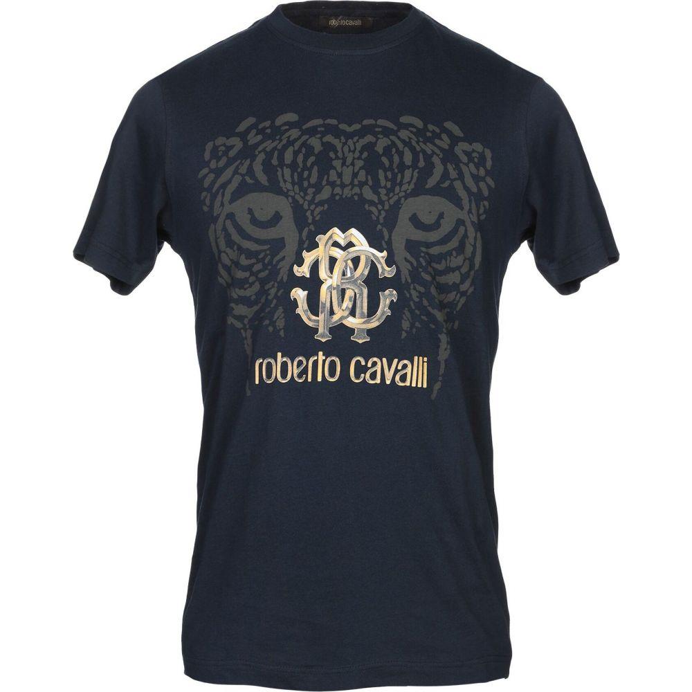 ロベルト カヴァリ ROBERTO CAVALLI メンズ Tシャツ トップス【t-shirt】Dark blue