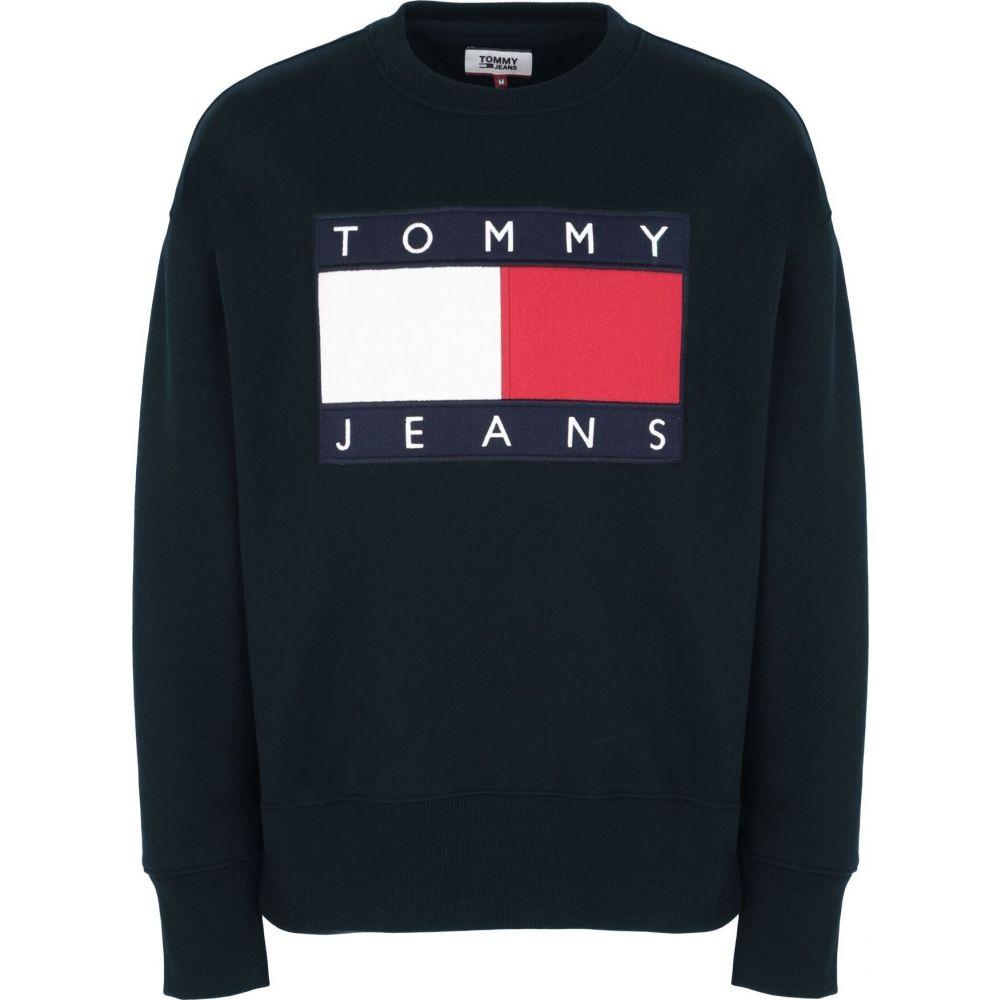 トミー ジーンズ TOMMY JEANS メンズ スウェット・トレーナー トップス【tjm tommy flag crew neck】Dark blue