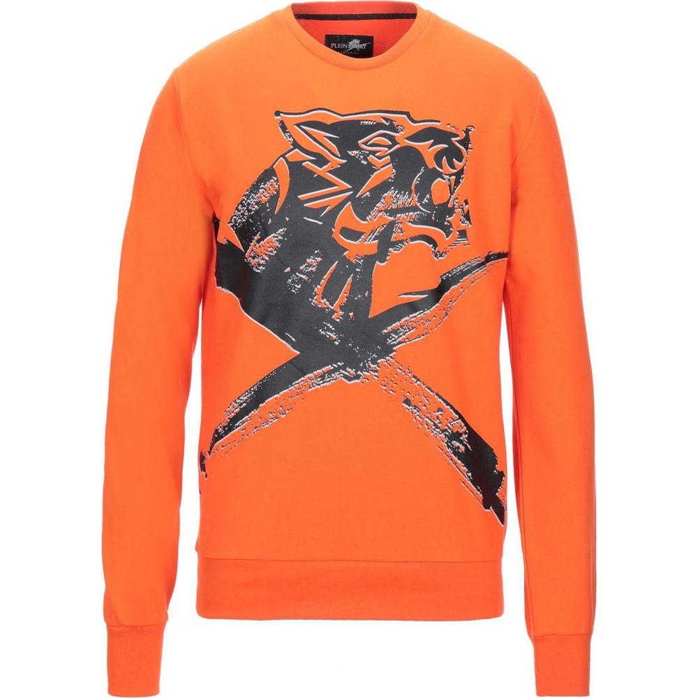 プレイン スポーツ PLEIN SPORT メンズ スウェット・トレーナー トップス【sweatshirt】Orange