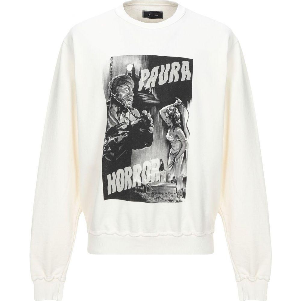 パウラ PAURA メンズ スウェット・トレーナー トップス【sweatshirt】Ivory