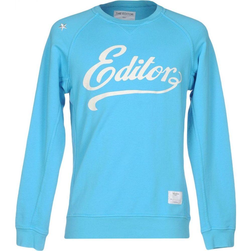 ジエディター THE EDITOR メンズ スウェット・トレーナー トップス【sweatshirt】Turquoise