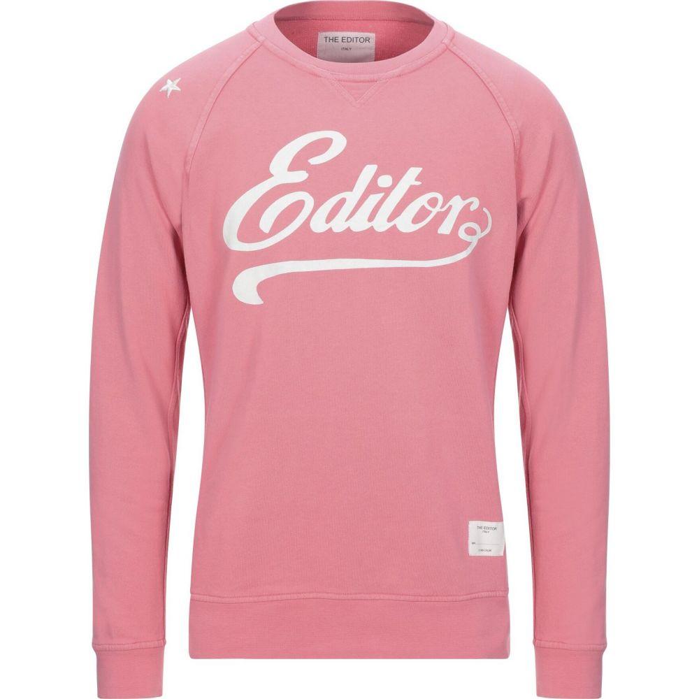 ジエディター THE EDITOR メンズ スウェット・トレーナー トップス【sweatshirt】Pink