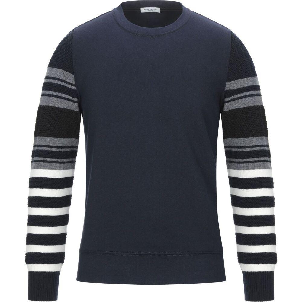 パオロ ペコラ PAOLO PECORA メンズ スウェット・トレーナー トップス【sweatshirt】Dark blue