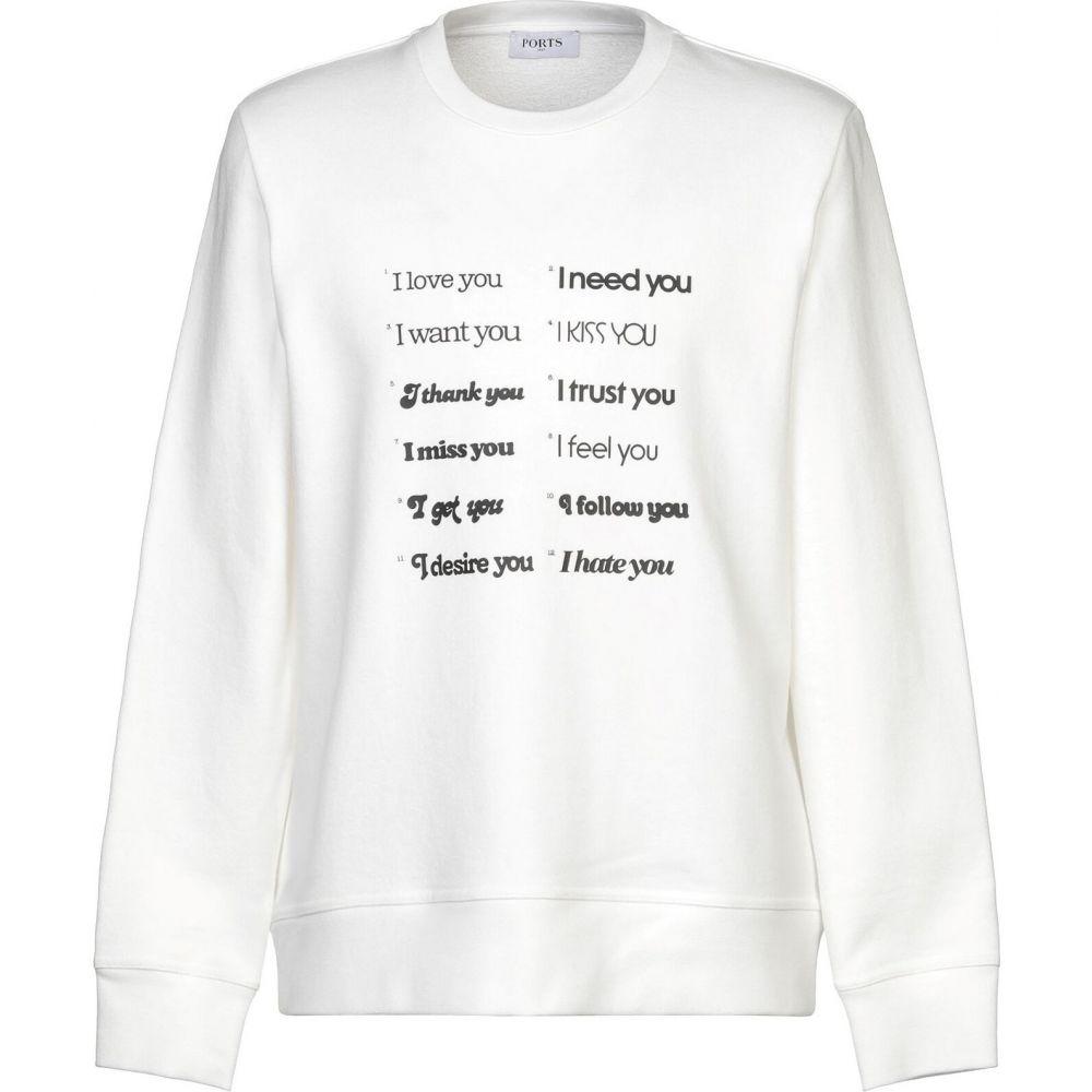 ポーツ 1961 PORTS 1961 メンズ スウェット・トレーナー トップス【sweatshirt】White