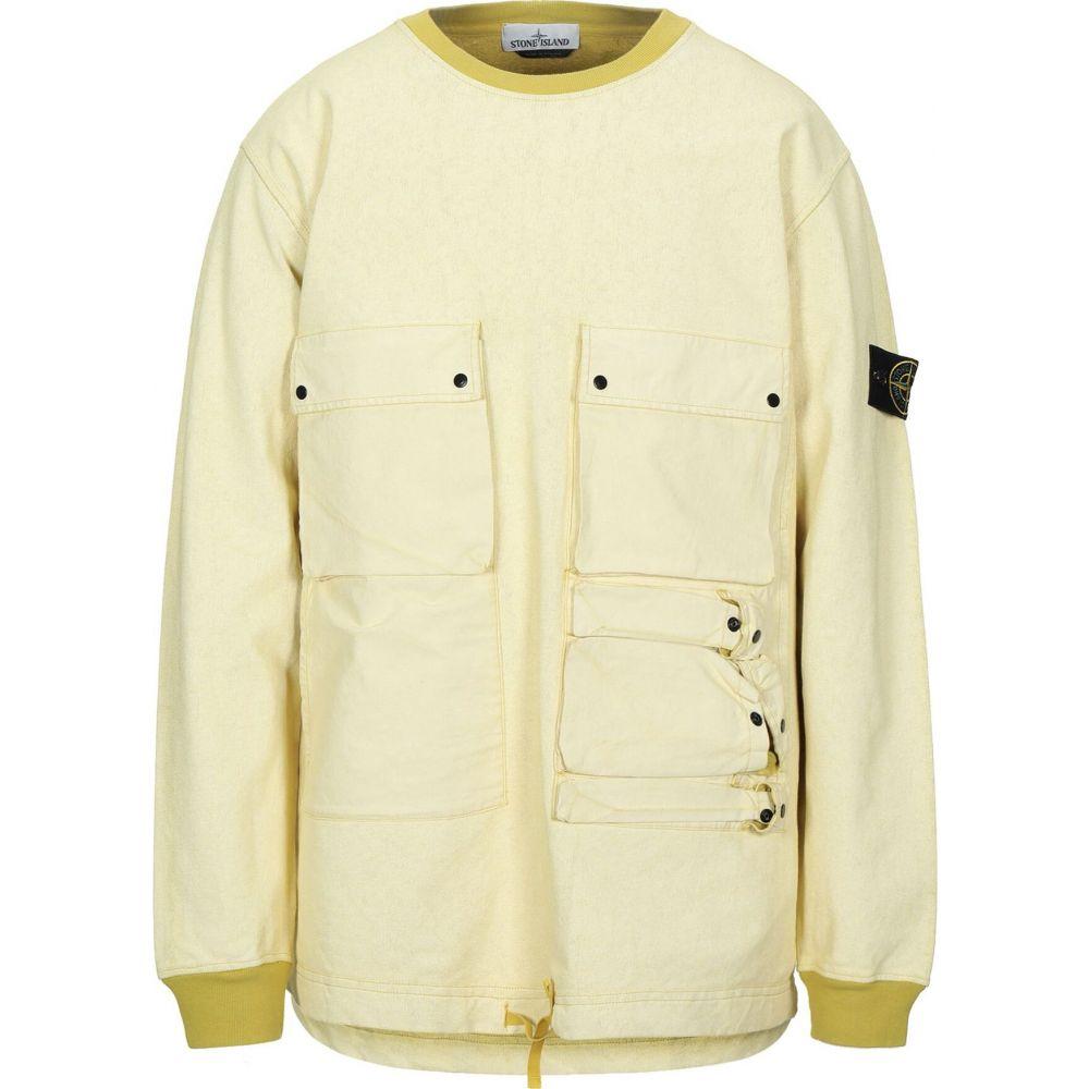 ストーンアイランド STONE ISLAND メンズ スウェット・トレーナー トップス【sweatshirt】Light yellow