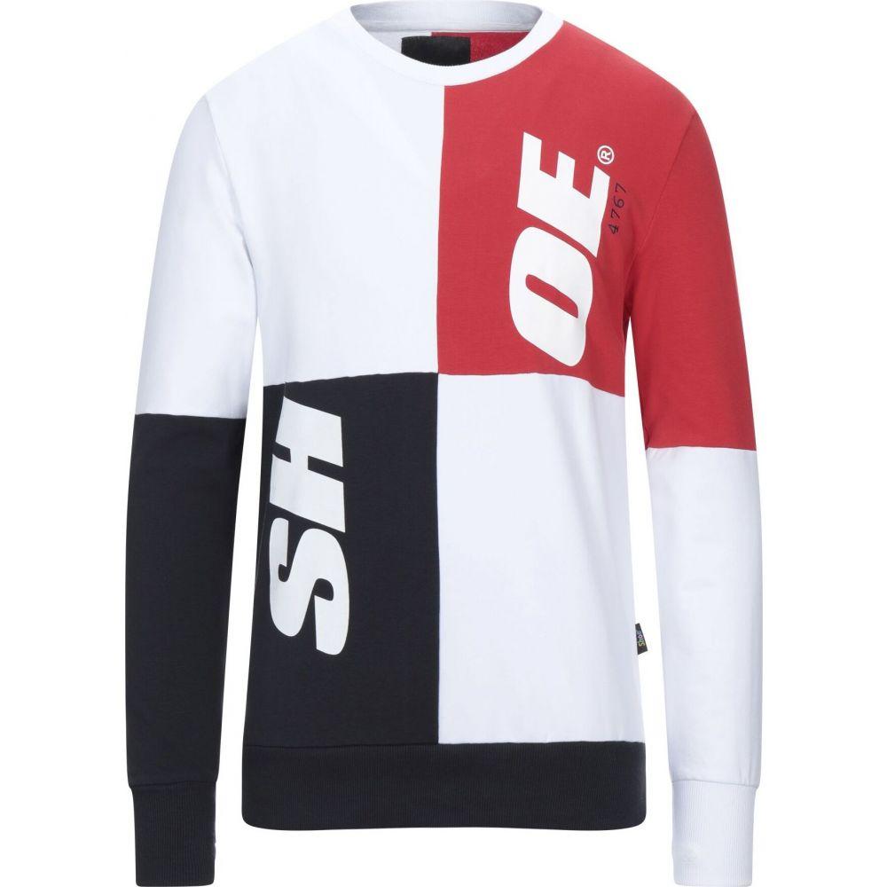 シューシャイン SHOESHINE メンズ スウェット・トレーナー トップス【sweatshirt】White