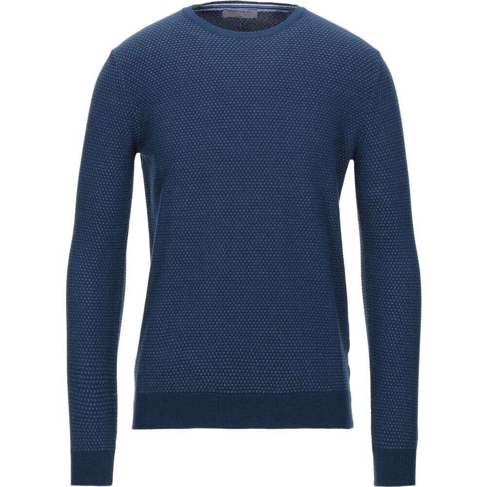 2020 プリヴァティ メンズ トップス ニット セーター サイズ交換無料 PRIVATI Dark blue バーゲンセール sweater