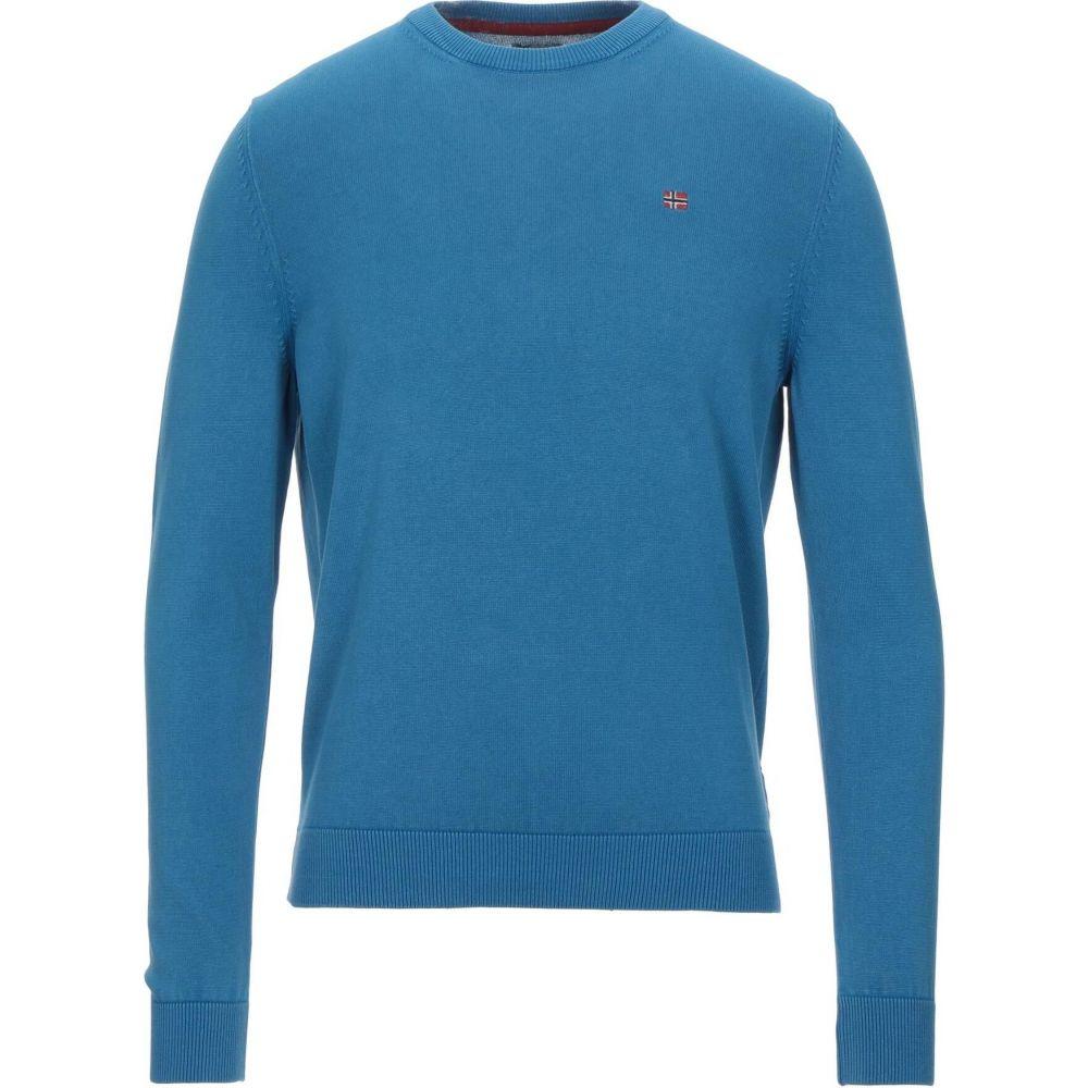 ナパピリ メンズ トップス ニット 格安SALEスタート セーター NAPAPIJRI sweater サイズ交換無料 待望 Azure