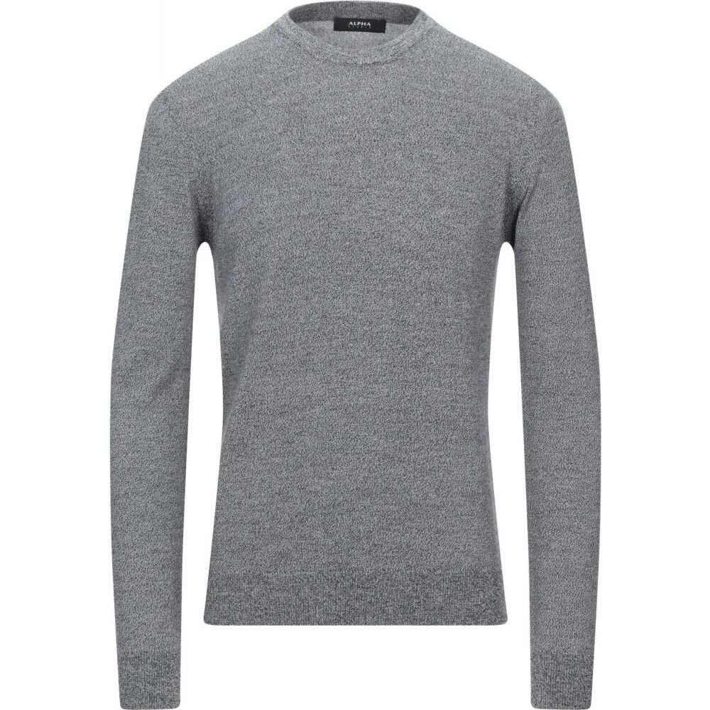 アルファス 贈り物 テューディオ メンズ トップス ニット セーター 訳あり品送料無料 サイズ交換無料 STUDIO Grey ALPHA sweater