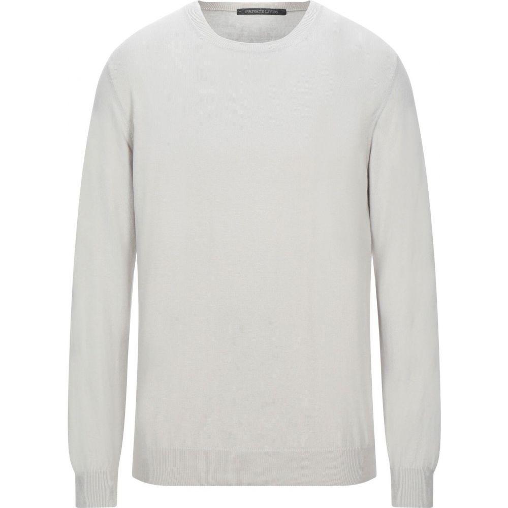 プライベートライブス メンズ トップス ニット セーター Light sweater LIVES ブランド激安セール会場 grey サイズ交換無料 PRIVATE ◇限定Special Price