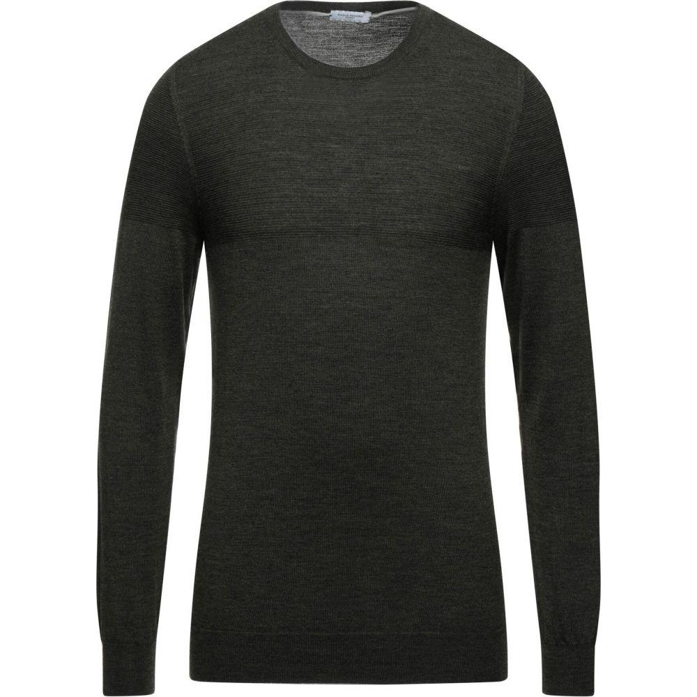 パオロ ペコラ メンズ トップス ニット セーター Dark sweater SALE開催中 付与 PAOLO PECORA green サイズ交換無料