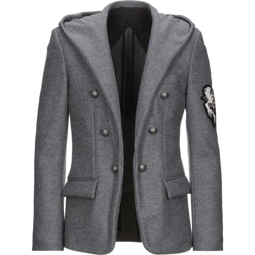 バルマン メンズ アウター 2020モデル スーツ ジャケット Grey BALMAIN サイズ交換無料 blazer [宅送]