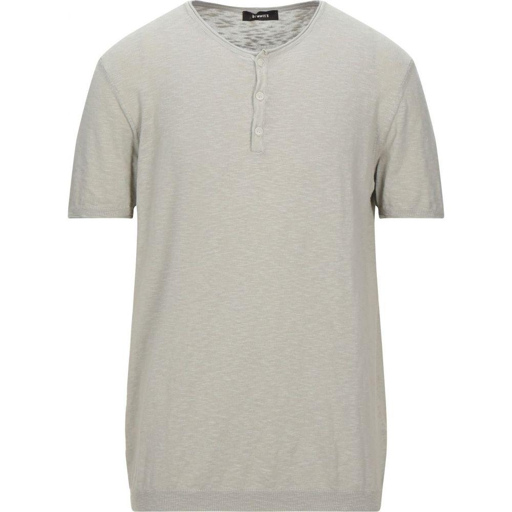 ブラウンズ メンズ トップス 在庫一掃 ニット セーター サイズ交換無料 sweater BROWN'S 開店祝い Sand