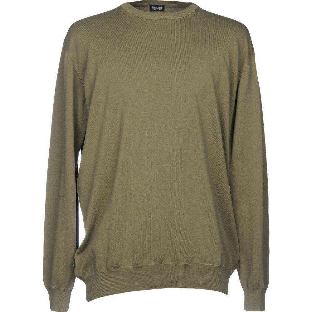 ブラウアー メンズ トップス ニット セーター 全品最安値に挑戦 sweater green BLAUER サイズ交換無料 Military 買物