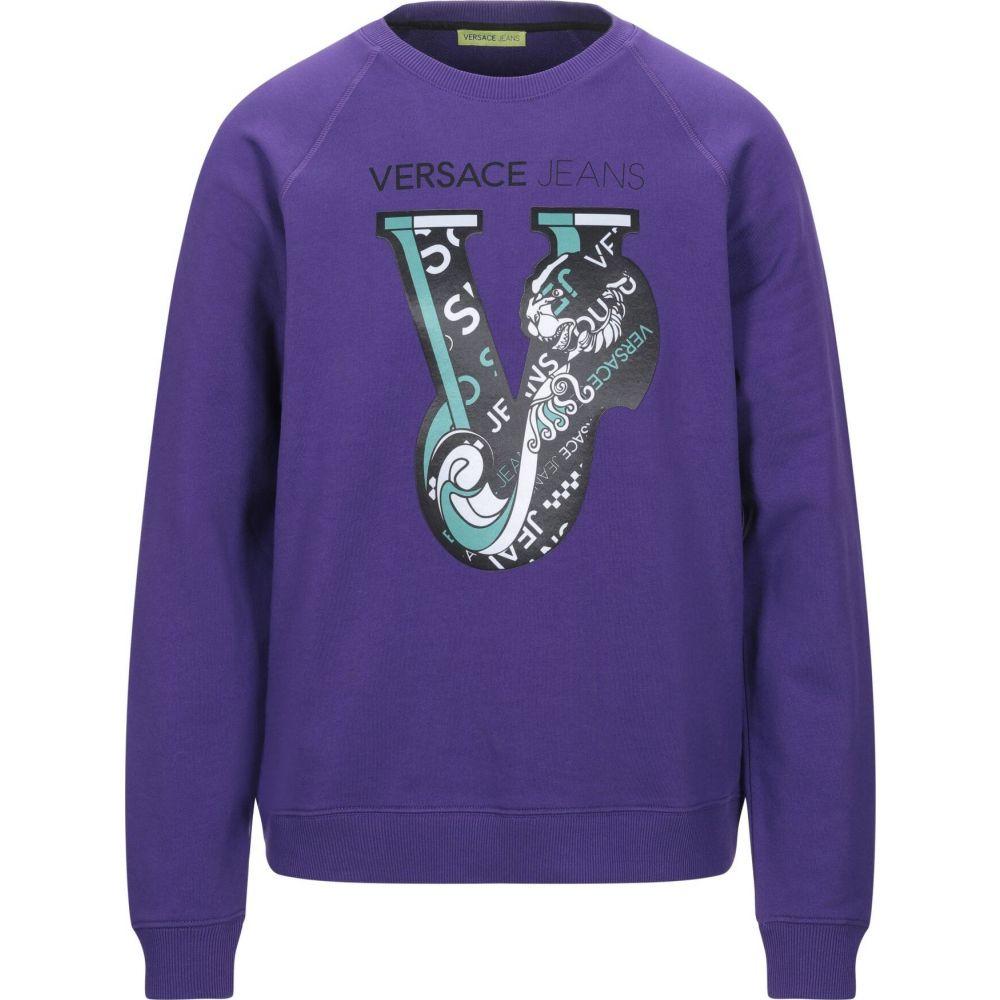 ヴェルサーチ VERSACE JEANS メンズ スウェット・トレーナー トップス【sweatshirt】Purple
