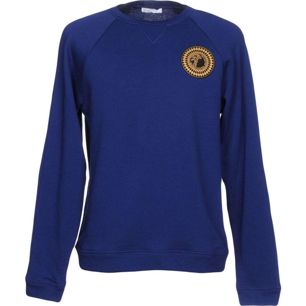 ヴェルサーチ VERSACE COLLECTION メンズ スウェット・トレーナー トップス【sweatshirt】Blue