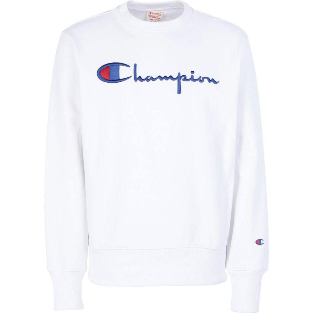 チャンピオン CHAMPION REVERSE WEAVE メンズ スウェット・トレーナー トップス【crewneck sweatshirt logo】White
