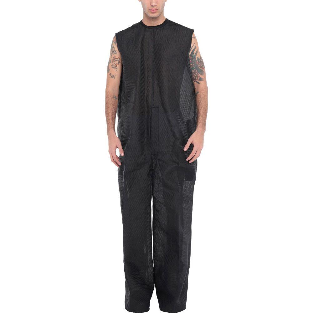 リック オウエンス メンズ トップス ツナギ オールインワン 休日 Black 秀逸 jumpsuit サイズ交換無料 RICK one piece OWENS