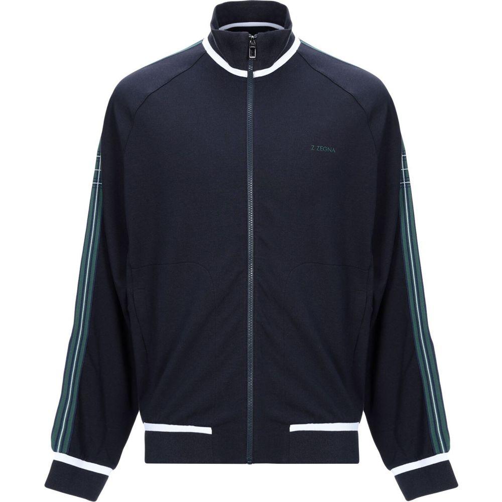 ZZEGNA メンズ スウェット・トレーナー トップス【sweatshirt】Dark blue