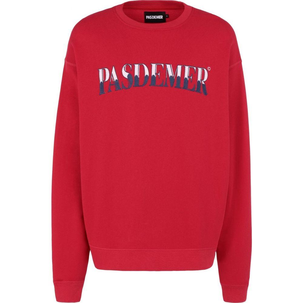 パデュメ PAS DE MER メンズ スウェット・トレーナー トップス【classic oversize sweatshirt】Red