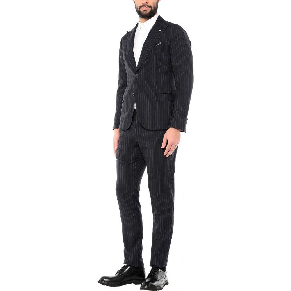 マニュエル リッツ 信頼 メンズ アウター 大幅値下げランキング スーツ ジャケット RITZ Dark Suit blue MANUEL サイズ交換無料