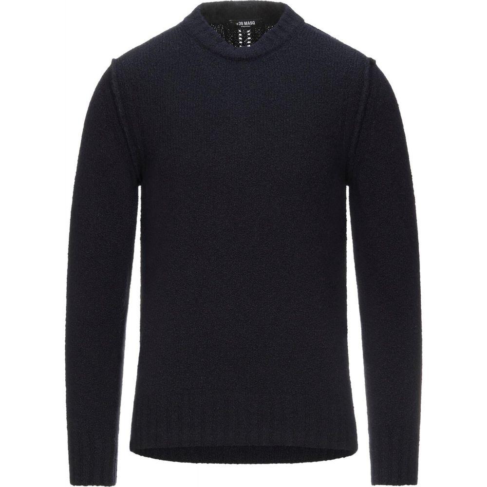マスク メンズ トップス ニット セーター 休み Dark +39 sweater 公式ストア サイズ交換無料 MASQ blue