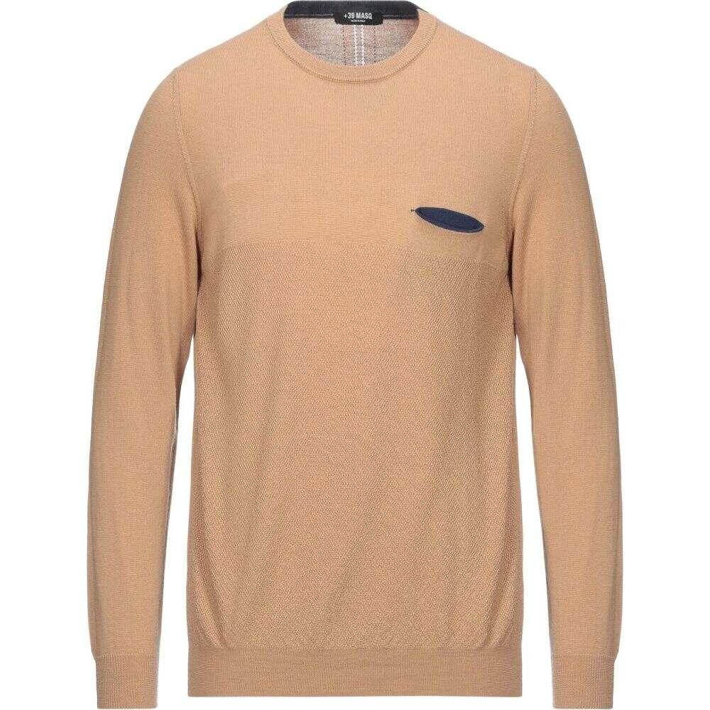 マスク 海外輸入 メンズ トップス ニット 激安☆超特価 セーター サイズ交換無料 Camel sweater +39 MASQ