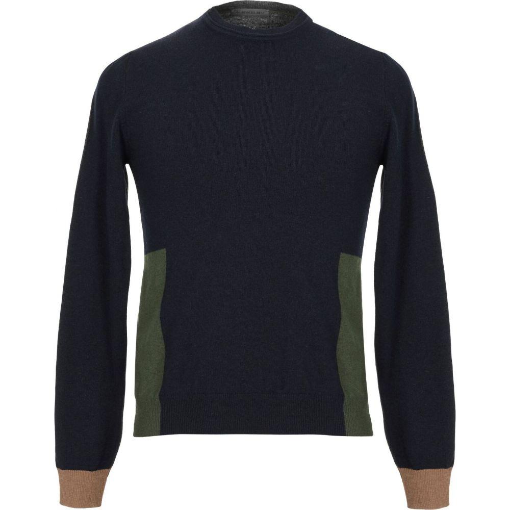 配送員設置送料無料 マニュエル リッツ メンズ トップス ニット 上品 セーター MANUEL Dark sweater blue サイズ交換無料 RITZ