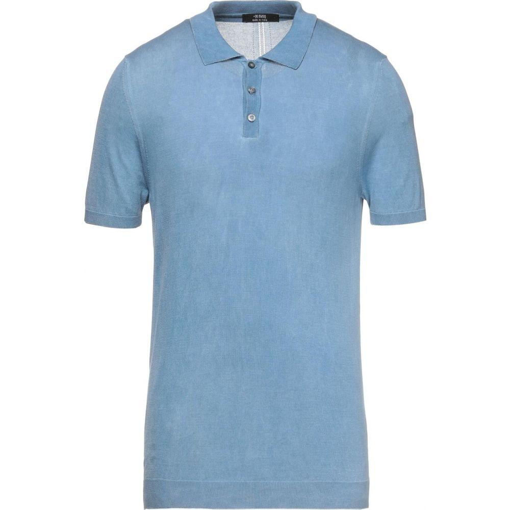 マスク メンズ 新作続 時間指定不可 トップス ニット セーター Slate サイズ交換無料 +39 sweater blue MASQ