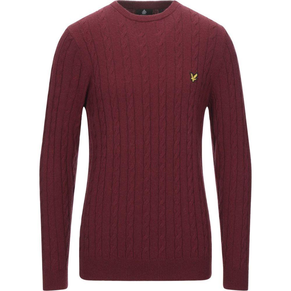 ライル 大幅にプライスダウン アンド スコット メンズ トップス ニット SCOTT セーター LYLE サイズ交換無料 ブランド品 sweater Maroon