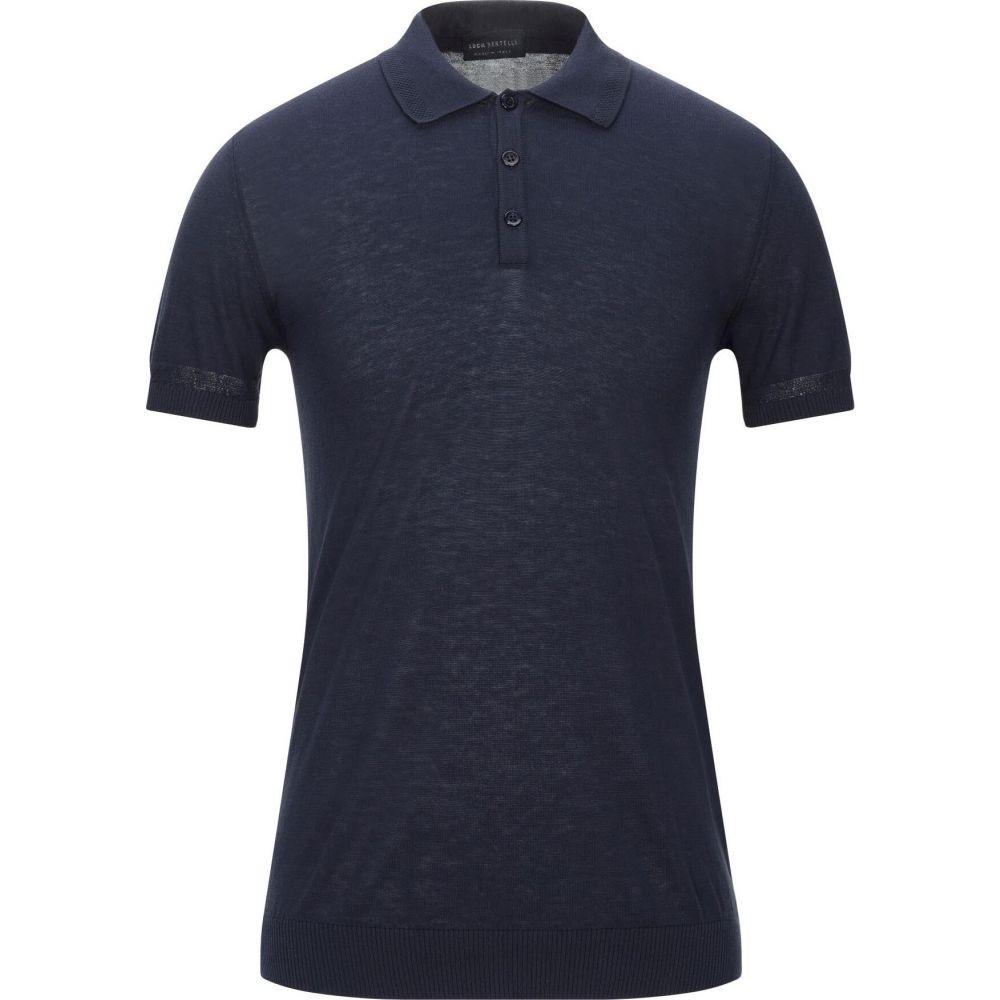 ルカ 信託 バーテリ メンズ トップス ニット セーター 安心と信頼 blue BERTELLI LUCA sweater Dark サイズ交換無料