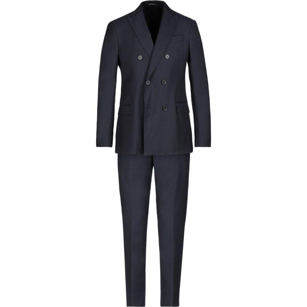半額品 アルマーニ Emporio Armani メンズ スーツ ジャケット アウター Suit Dark Blue Carolinaballet Org