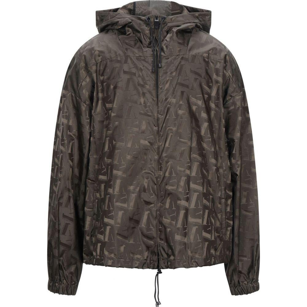 新作多数 アルマーニ 2020新作 メンズ アウター レインコート Military green ARMANI サイズ交換無料 jacket EMPORIO full-length