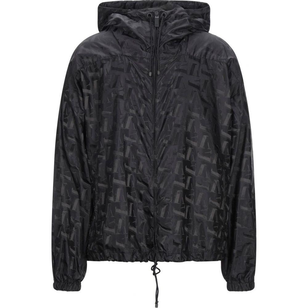 アルマーニ メンズ アウター 通信販売 当店は最高な サービスを提供します レインコート Black full-length EMPORIO サイズ交換無料 jacket ARMANI