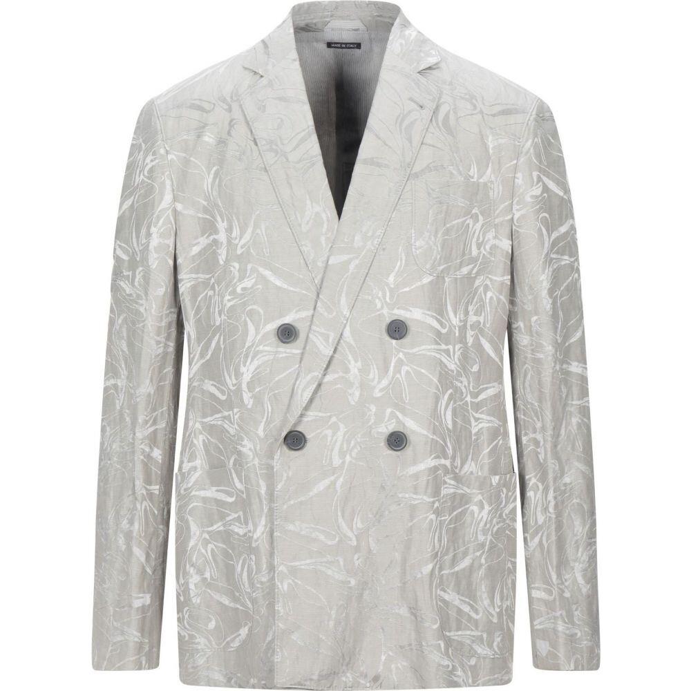 【一部予約!】 アルマーニ GIORGIO ARMANI メンズ スーツ・ジャケット アウター【blazer】Light grey, 06XY dcde4954