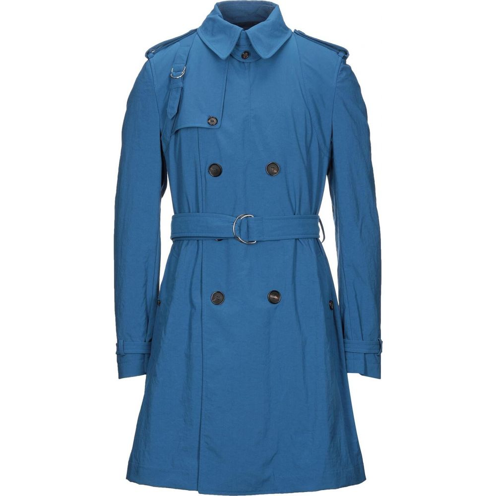 アレキサンダー マックイーン メンズ アウター 買収 トレンチコート Slate 訳あり jacket ALEXANDER サイズ交換無料 blue full-length MCQUEEN