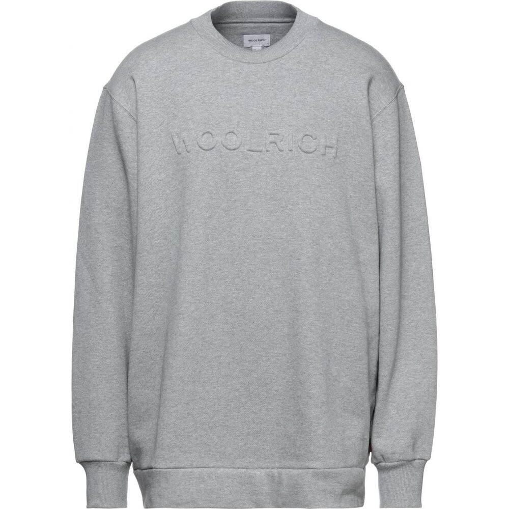 ウールリッチ メンズ トップス スウェット トレーナー サイズ交換無料 贈答品 sweatshirt Grey 絶品 WOOLRICH
