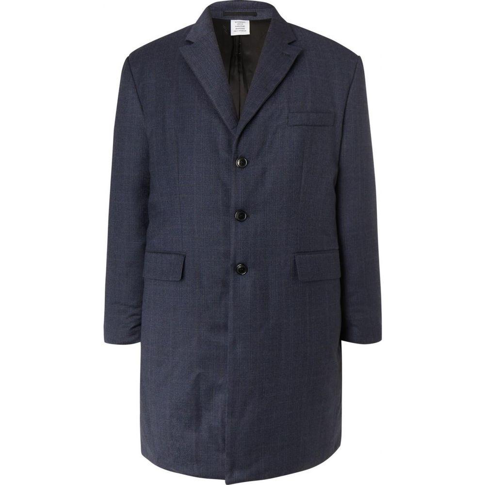 ヴェトモン 至高 メンズ アウター コート Dark 正規店 VETEMENTS サイズ交換無料 coat blue