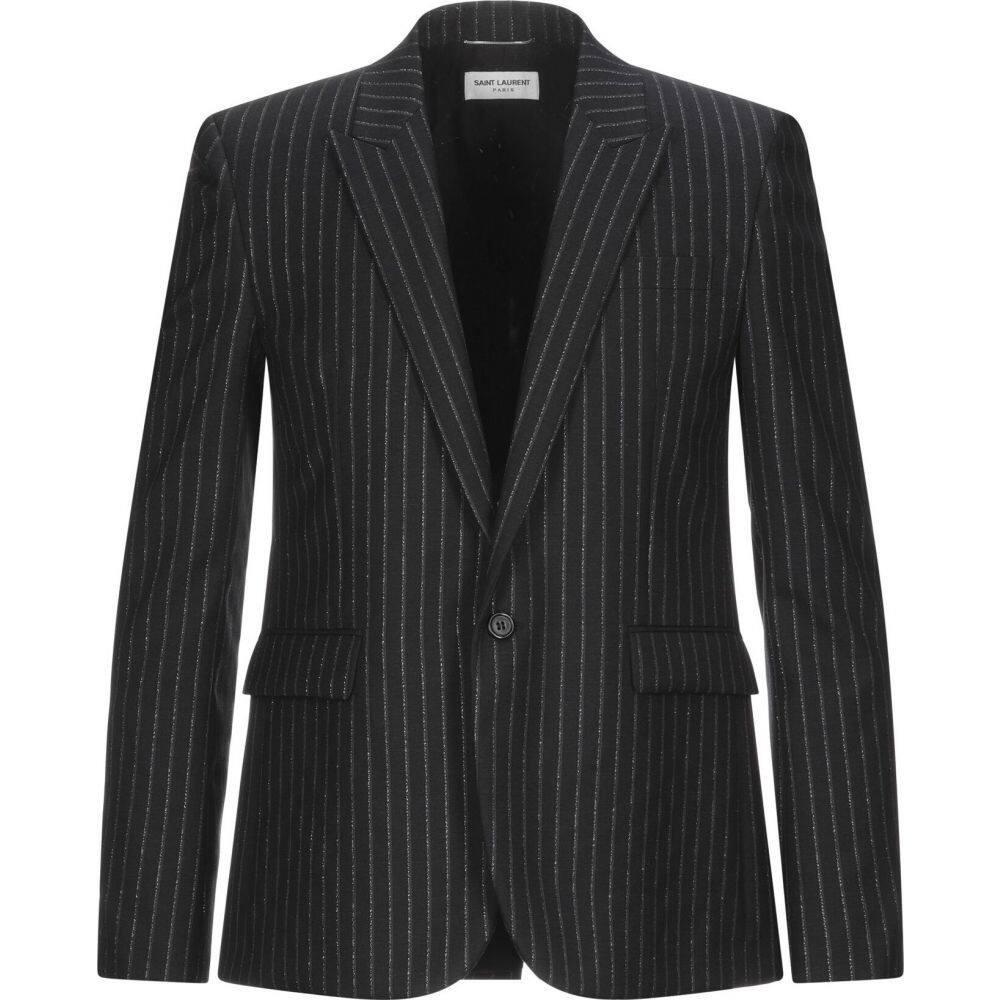 <title>イヴ サンローラン メンズ アウター スーツ 贈答 ジャケット Black サイズ交換無料 SAINT LAURENT blazer</title>