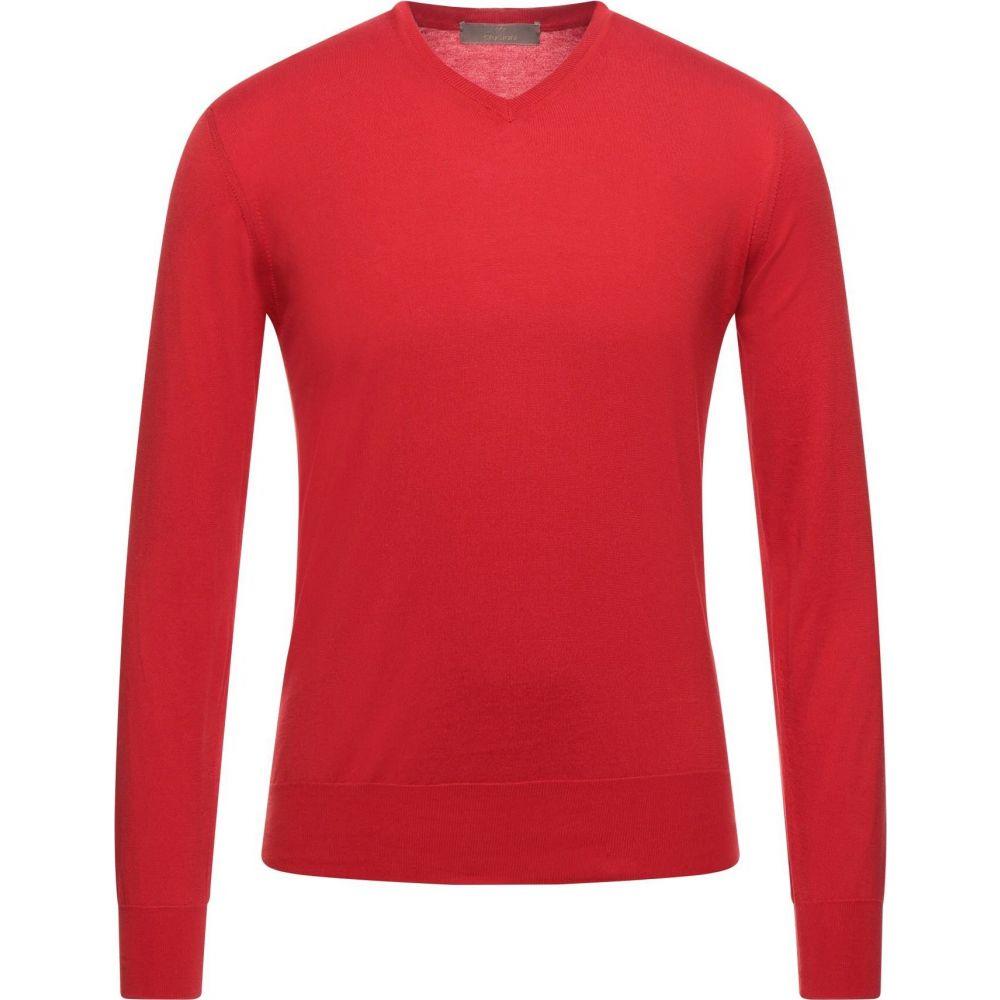 クルチアーニ メンズ トップス ニット セーター 正規販売店 安売り CRUCIANI サイズ交換無料 sweater Red