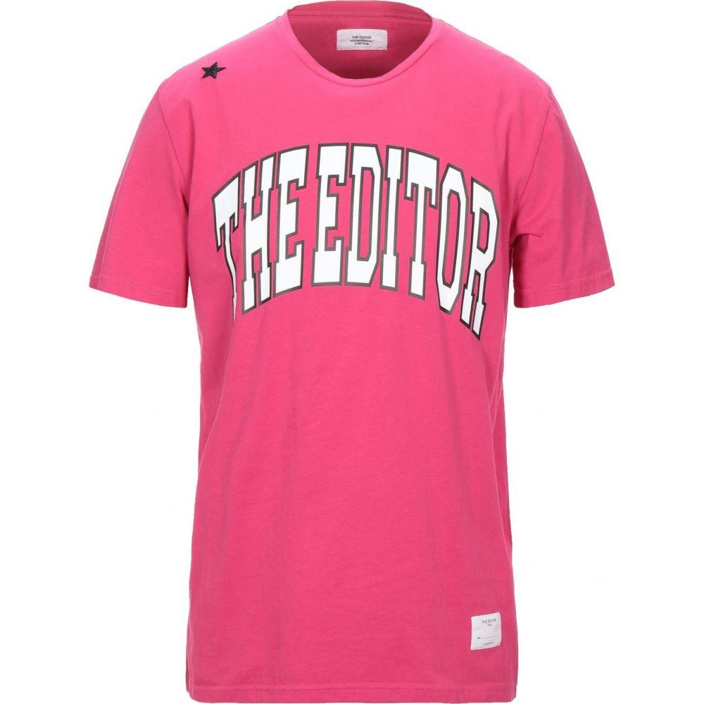 ジエディター 新品■送料無料■ メンズ トップス Tシャツ 初回限定 Fuchsia t-shirt EDITOR THE サイズ交換無料