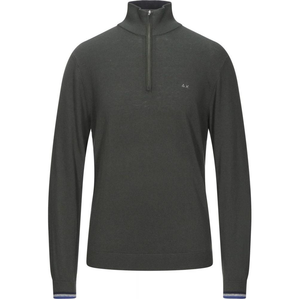 サン シックスティーエイト メンズ お洒落 トップス ニット セーター Dark zip 大規模セール green with sweater 68 SUN サイズ交換無料