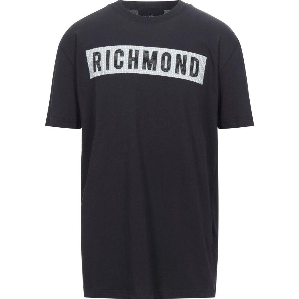 正規激安 ジョン リッチモンド メンズ トップス Tシャツ JOHN Black RICHMOND サイズ交換無料 メーカー在庫限り品 t-shirt