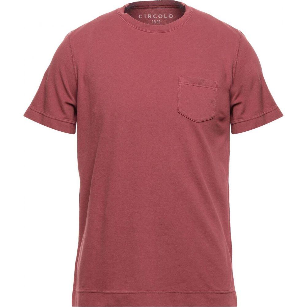 高級な チルコロ1901 メンズ トップス Tシャツ マーケティング Garnet サイズ交換無料 1901 CIRCOLO t-shirt
