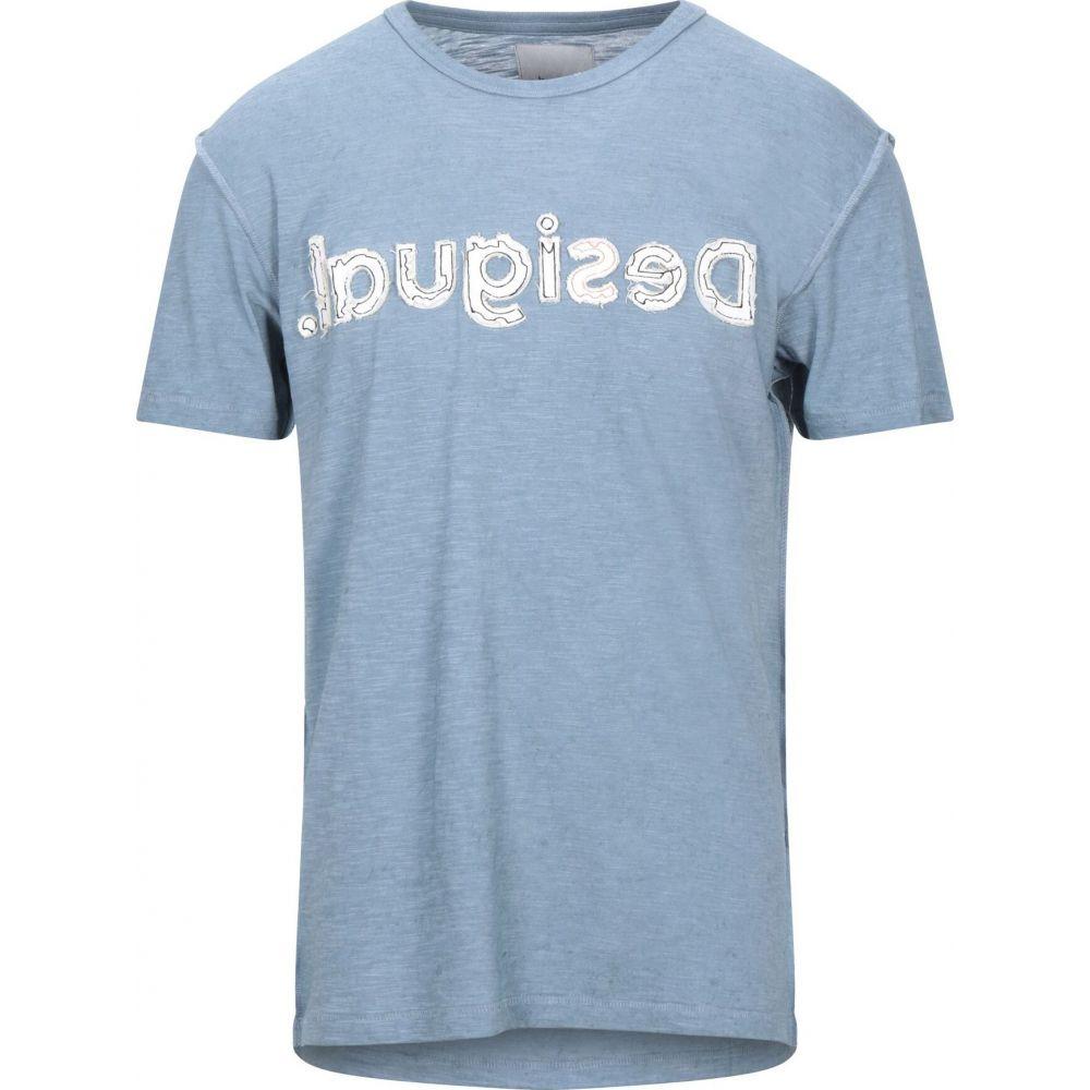 デジグアル DESIGUAL メンズ Tシャツ トップス【t-shirt】Pastel blue