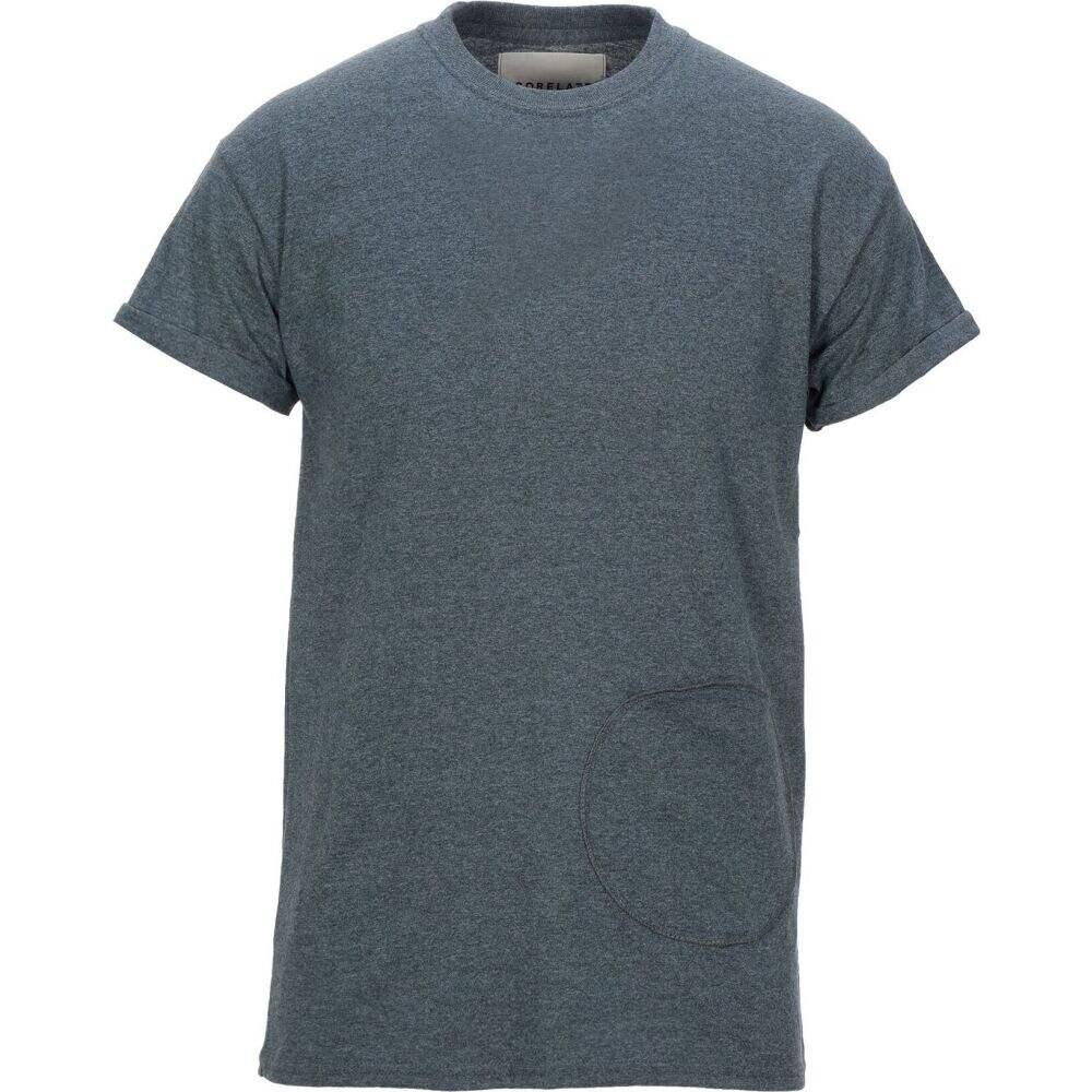 コラレート CORELATE メンズ Tシャツ トップス【t-shirt】Slate blue