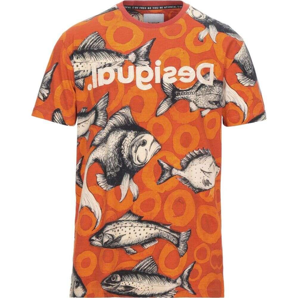 デジグアル DESIGUAL メンズ Tシャツ トップス【t-shirt】Orange