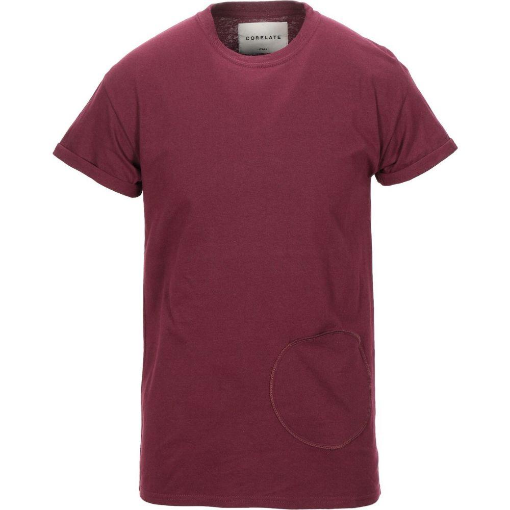 コラレート CORELATE メンズ Tシャツ トップス【t-shirt】Maroon