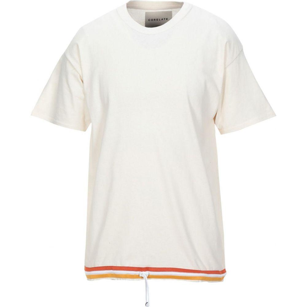コラレート CORELATE メンズ Tシャツ トップス【t-shirt】Ivory
