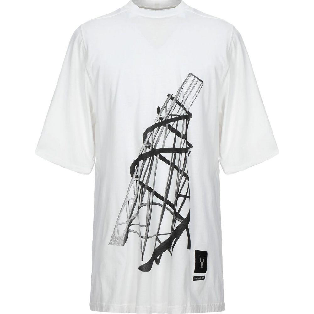 ダークシャドウ DRKSHDW by RICK OWENS メンズ Tシャツ トップス【t-shirt】White